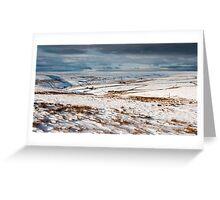 Winter moorland scene Greeting Card