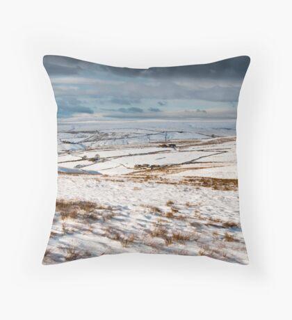Winter moorland scene Throw Pillow
