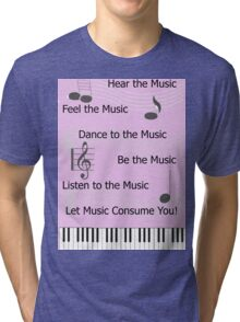 For the Love of Music Tri-blend T-Shirt