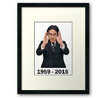 Satoru Iwata - Immortalize The Legend  [RIP]  Framed Print