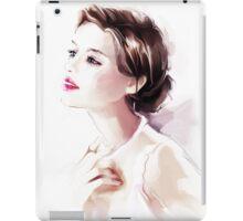 Watercolor illustration. Beautiful young woman iPad Case/Skin