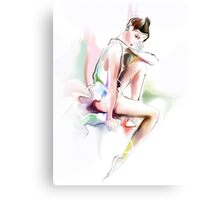 fine young ballerina sitting  Canvas Print