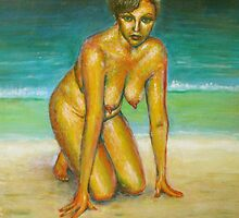 Armienne on the Sand by Malcolm McCoull