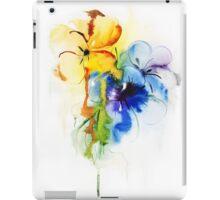 Floral watercolor illustration iPad Case/Skin