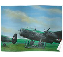 Loading Up Lancasters Poster