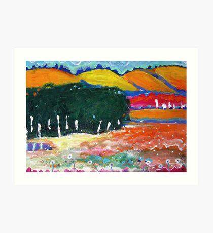 Balingup hills Art Print