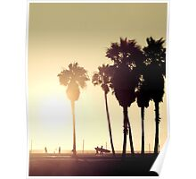Venice Beach...Surf, Volley, Windsurf Poster