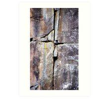 Cataract Gorge Rocks 1I Art Print