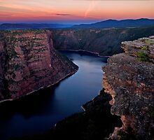 Flaming Gorge Sunset by Kathy Weaver
