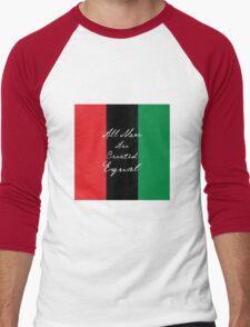 All Men Are Equal Afro Flag Men's Baseball ¾ T-Shirt