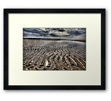 Wide Angle Beach look in H D R Framed Print