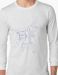 buck bumble blue Long Sleeve T-Shirt