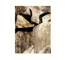 Cataract Gorge Rocks 1K Art Print
