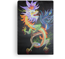 Chinese Fire Dragon Canvas Print