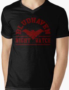Batman - Bludhaven Red Mens V-Neck T-Shirt