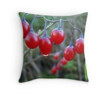 Red Nightingale berries... Throw Pillow
