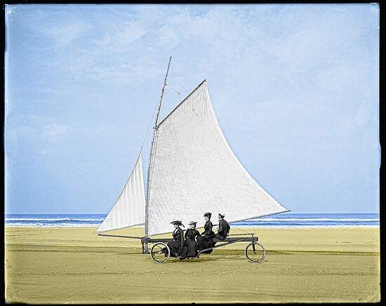 Sailing on the beach by Kurt  Tutschek