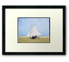 Sailing on the beach Framed Print