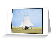 Sailing on the beach Greeting Card