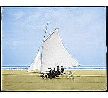 Sailing on the beach Photographic Print