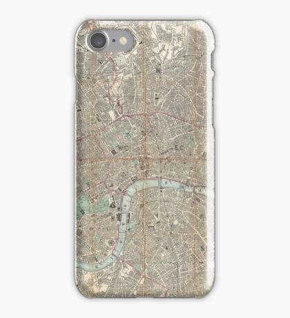 London vintage map iPhone Case/Skin