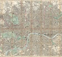 London vintage map by Irish-coffee