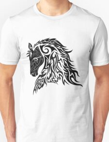 Tribal Tattoo Style Horse Unisex T-Shirt