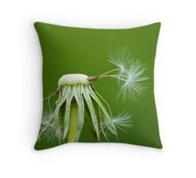 Going Going Gone to Seed Throw Pillow