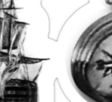 Ship and Compass Sticker
