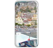 Positano: landscape with boats iPhone Case/Skin