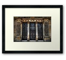 Grand Door - Leeds Town Hall Framed Print