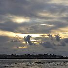 Pano of a sunset in the St-Jean-de-Luz bay by shkyo30