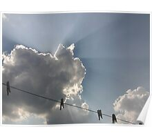 Washing line with a view Poster