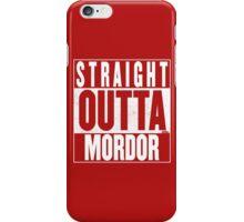 STRAIGHT OUTTA MORDOR iPhone Case/Skin