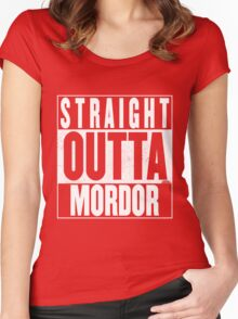 STRAIGHT OUTTA MORDOR Women's Fitted Scoop T-Shirt