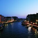 venice grand canal by dusk by El23