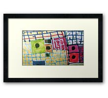 Map of Marks and Blocks Framed Print
