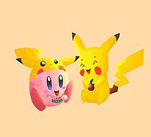 Kirby and Pikachu by KinopikoFan
