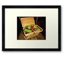 Emmy's Peppers Framed Print
