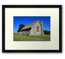 Stone Church on the Prairies Framed Print