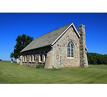 Stone Church on the Prairies Photographic Print