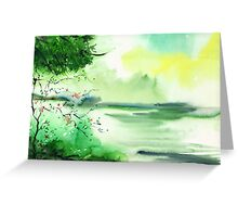 Lake in clouds Greeting Card
