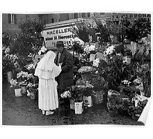 Nun and Flower Merchant Poster