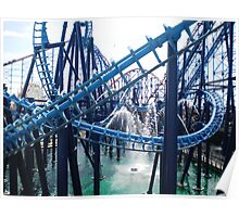 Roller coasters - Blackpool Pleasure Beach Poster