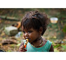 India song or when I'll grow up I'll be a famous flute player. Photographic Print
