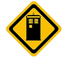 Warning: Tardis area Photographic Print