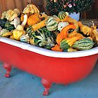 Goats on the Roof and Gourds in the Tub by Chelei