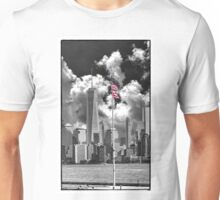 Freedom Tower and Flag Selective Color Unisex T-Shirt
