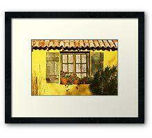 Sunshine and Shutters Framed Print