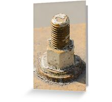 old rusty screw Greeting Card